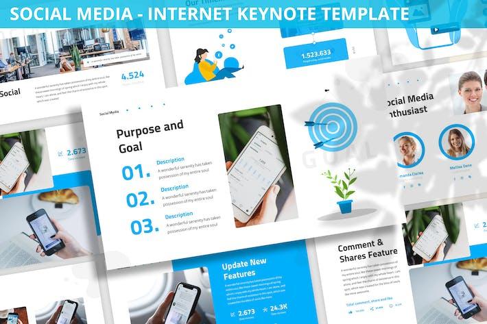 Thumbnail for Social Media - Internet Keynote Template