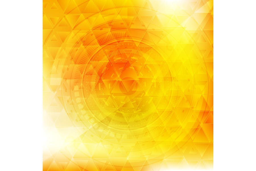 Vibrant yellow technology background