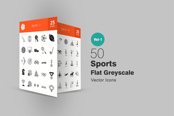 Thumbnail for 50 Sports Greyscale Icons