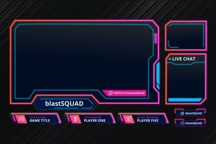 Thumbnail for Blast Squad - Twitch Overlay Template