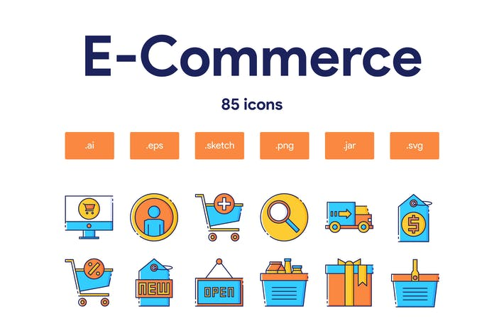 Thumbnail for E-Commerce Icon Set