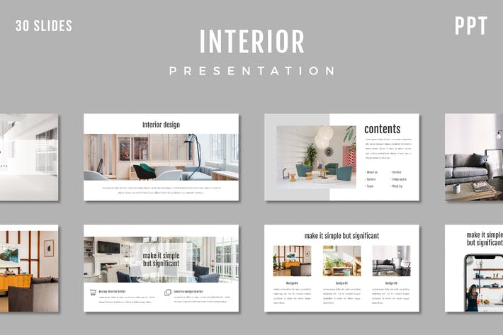 Thumbnail for Interior Presentation Template - (PPT)