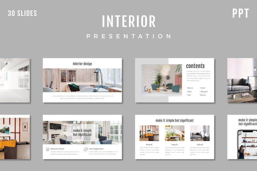 Interior Presentation Template - (PPT)