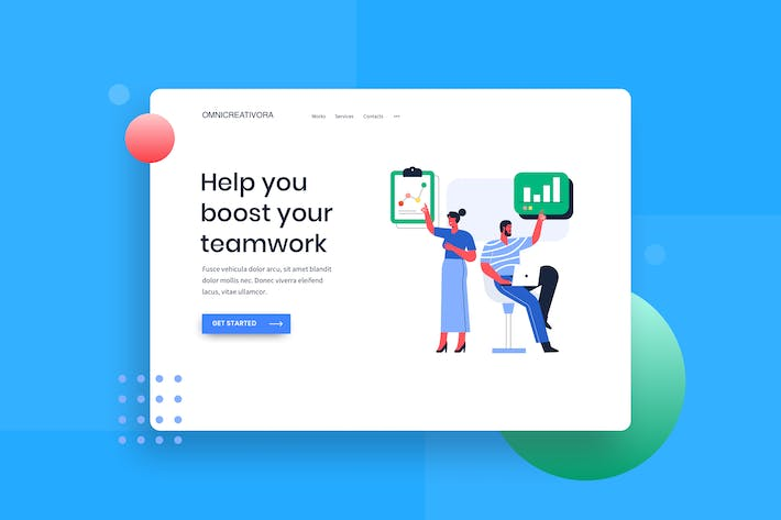 Thumbnail for Monthly review earning landing page Illustration