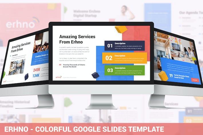 Thumbnail for Erhno - Colorful Google Slides Template