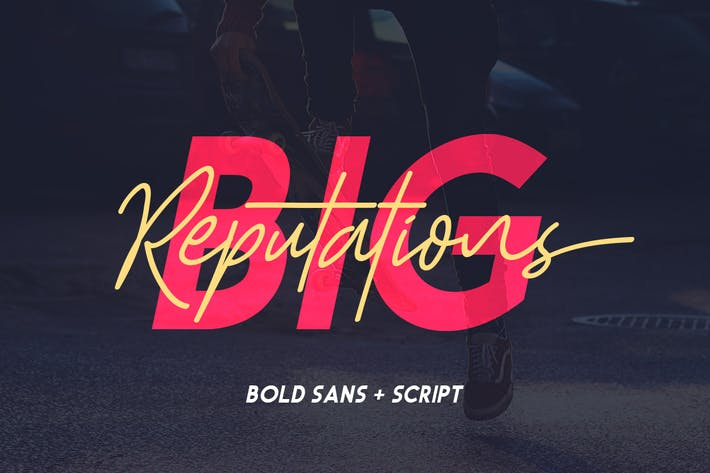 Thumbnail for Big Reputation - Font Duo