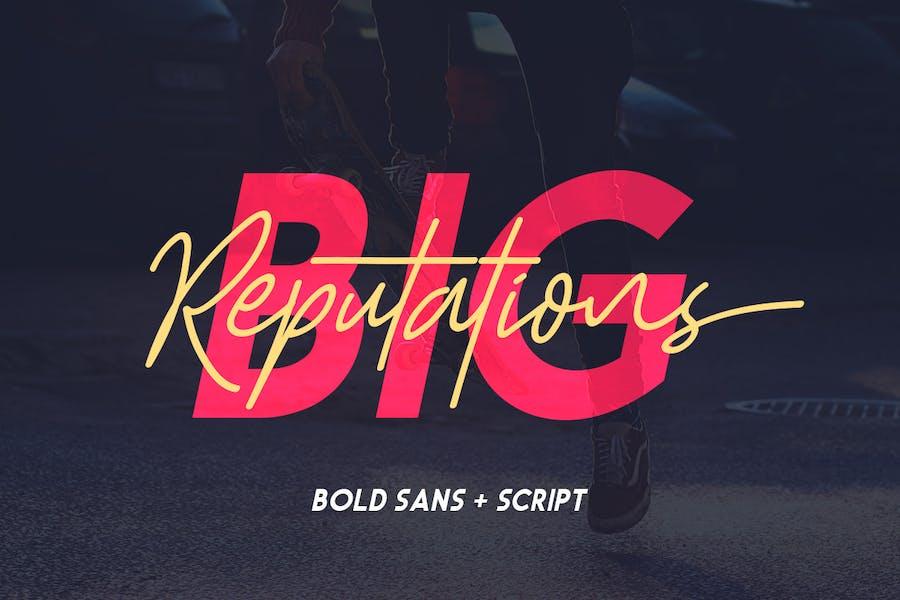 Big Reputation - Font Duo