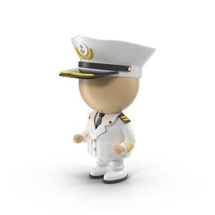 Cartoon Captain Character