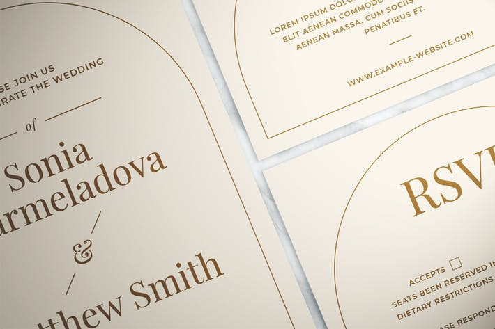 Thumbnail for Modern Wedding Invitation Suite