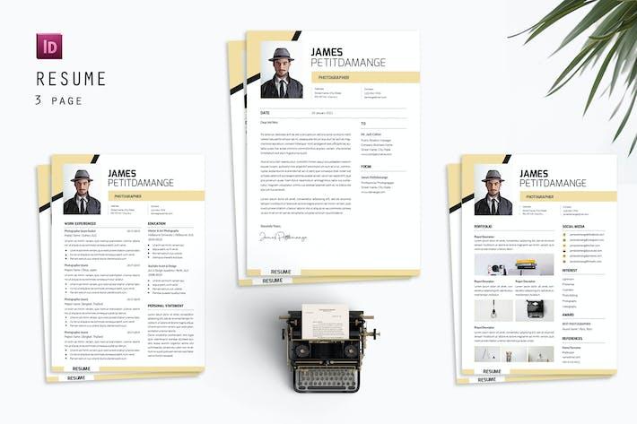Thumbnail for James Photographer Resume Designer