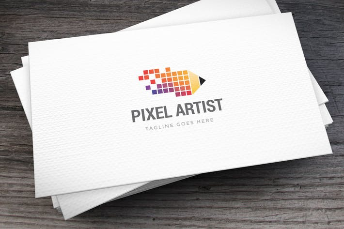 Thumbnail for Pixel Artist Logo Template