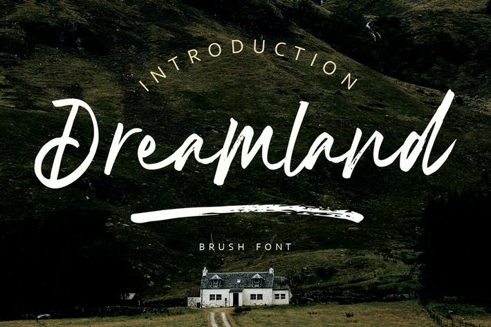 Thumbnail for Dreamland | Pincel Font MS
