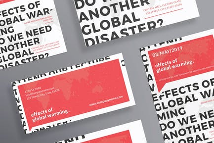 Global Warming Conference Flyer and Poster Templat