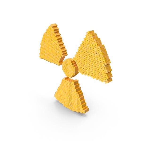 Знак опасности Радиационный Voxel