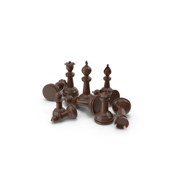 Chess Pieces Brown
