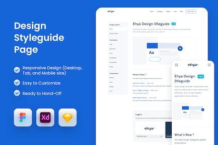 Design Styleguide Page