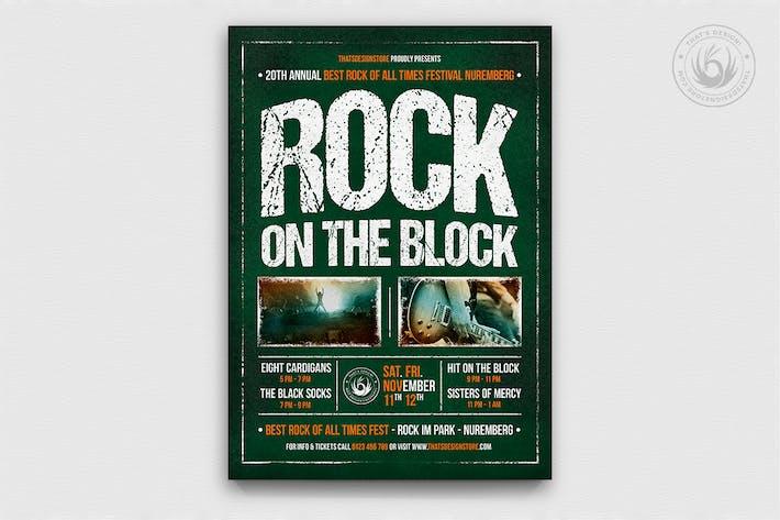 Thumbnail for Plantilla Folleto Festival Rock V1