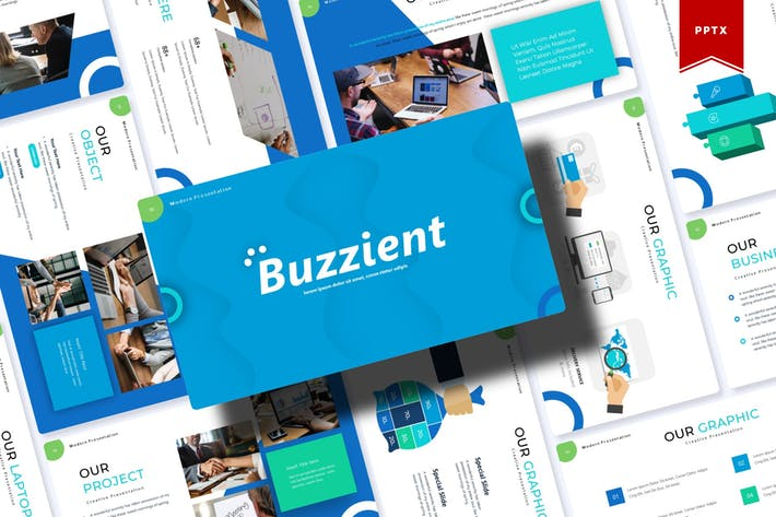 Thumbnail for Buzzient | Шаблон Powerpoint