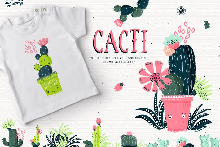 Thumbnail for Cacti With Smiling Pots