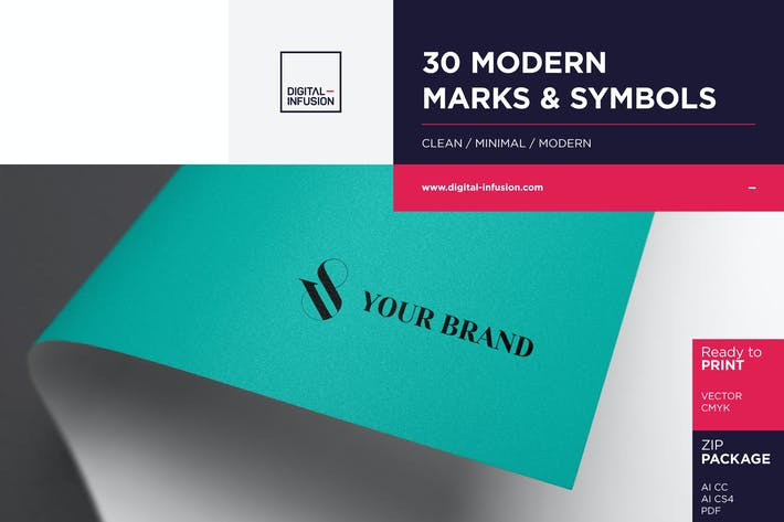 Thumbnail for 30 Modern Marks & Symbols