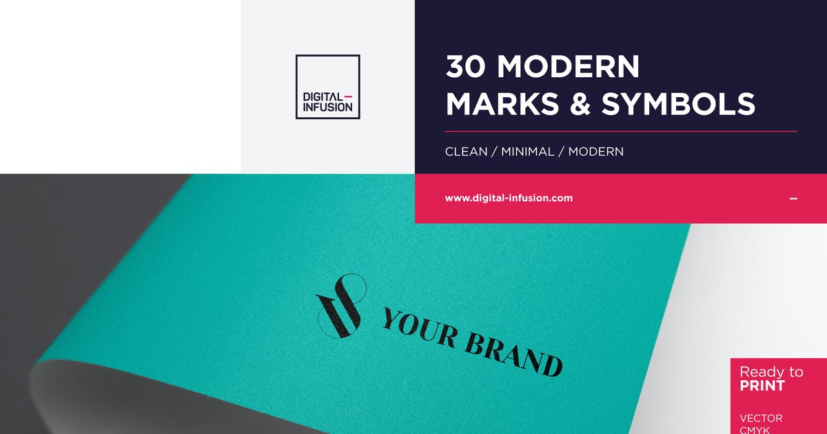 Download 30 Modern Marks & Symbols by Digital_infusion