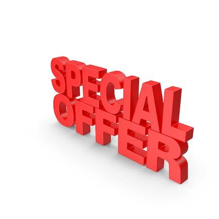 Oferta Especial Texto 3D