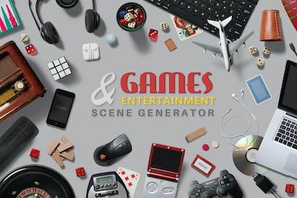 Spiele & Entertainment Scene Creator