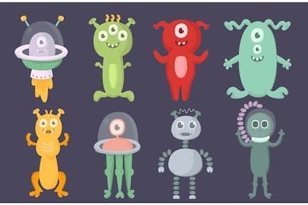 Alien-Zeichentrickfiguren