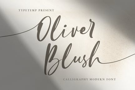 Oliver Blush Calligraphy Modern Wedding Font