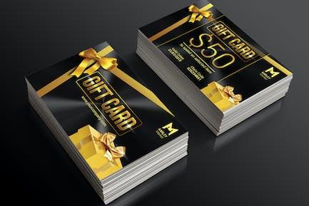 Goldene Geschenkkarten