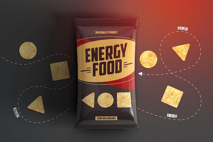 Thumbnail for Food Bag Product Mockup