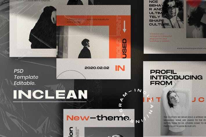 Thumbnail for INCLEAN - Social Media Kit Post & Stories  PACK 2