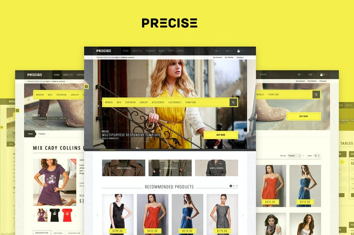 Thumbnail for Precise — Multipurpose Responsive Magento Theme