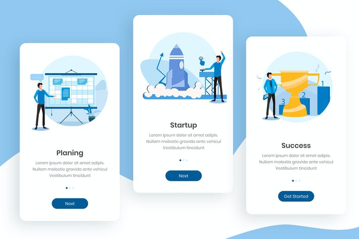 Thumbnail for Start Up Business Onboarding App Screens