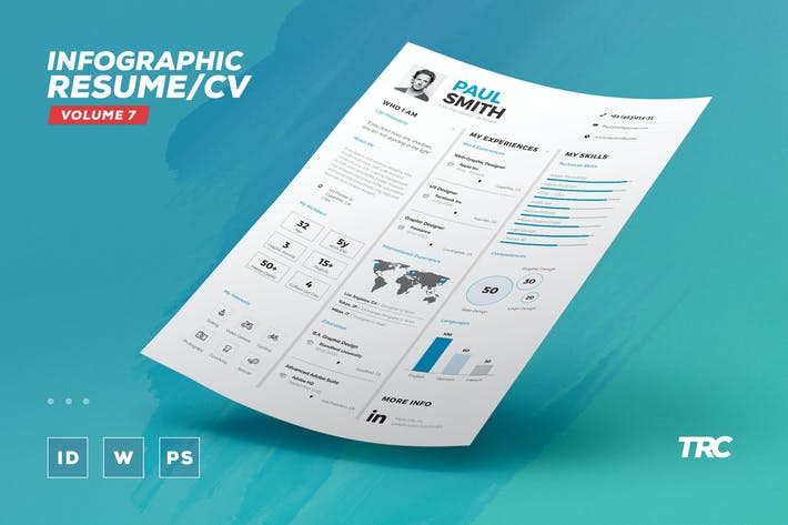 Thumbnail for Infographic Resume/Cv Volume 7