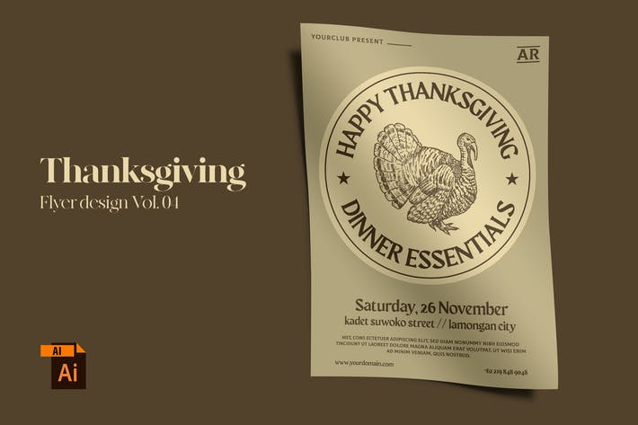 Thanksgiving Flyer Design Vol. 04