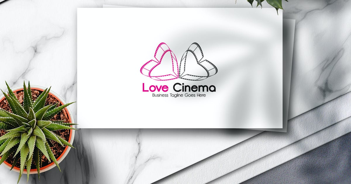 Download Love Cinema Logo by Voltury