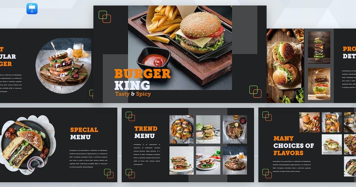 Download Burgerking - Food Keynote Template by UnicodeID