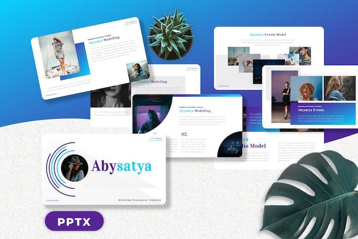 Thumbnail for Abysatya - Моделирование Шаблоны PowerPoint