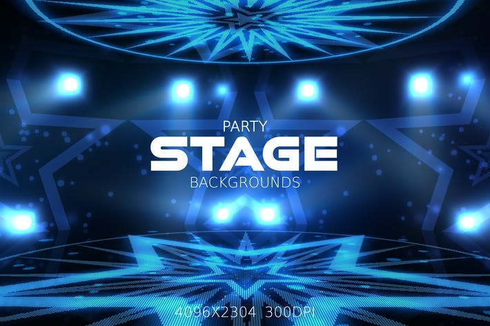 Thumbnail for Party Stage Backgrounds