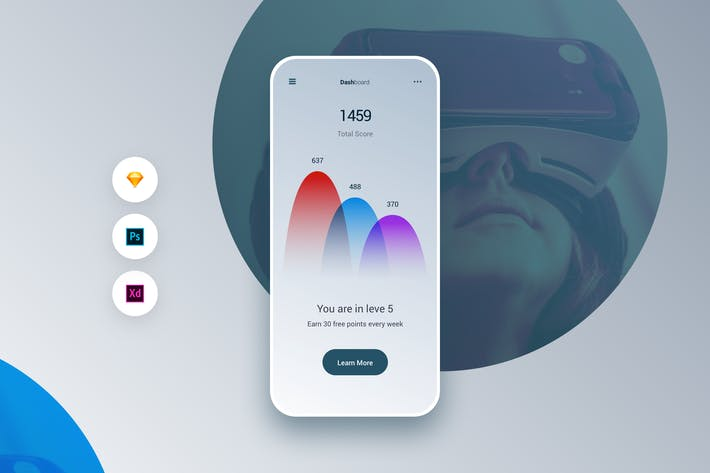 Thumbnail for Dashboard Concept UI Kit App