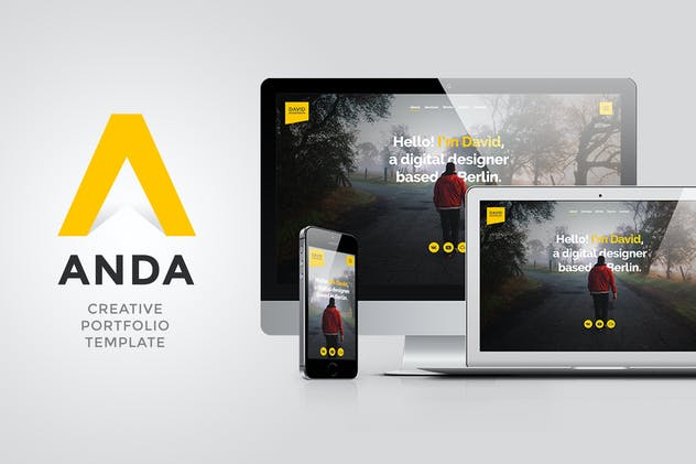 Anda - Multipurpose Portfolio Muse Template - product preview 2