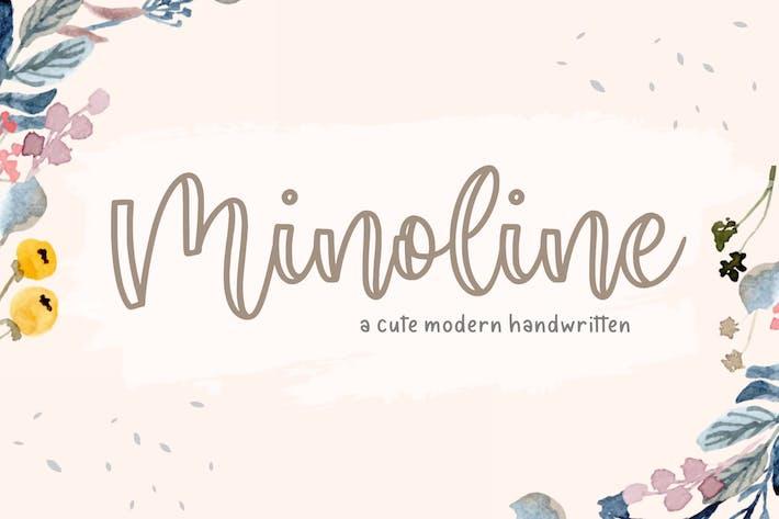 Thumbnail for Minoline Script Fuente YH