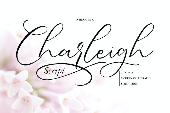 Thumbnail for Charleigh | Fuente de escritura de caligrafía moderna