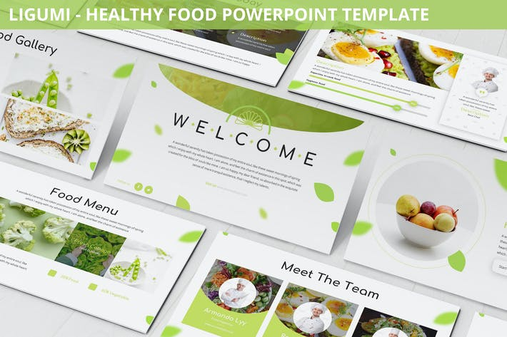 Cover Image For Ligumi - Healthy Food Powerpoint Template