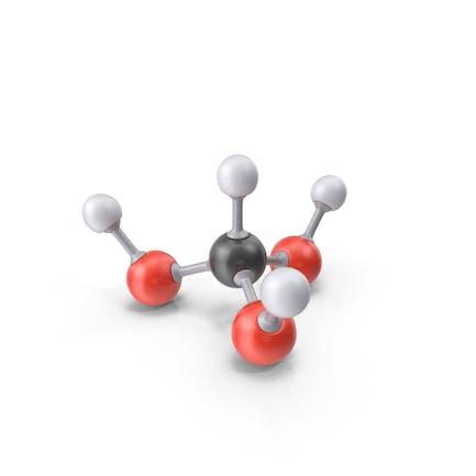 Молекула ортоформической кислоты