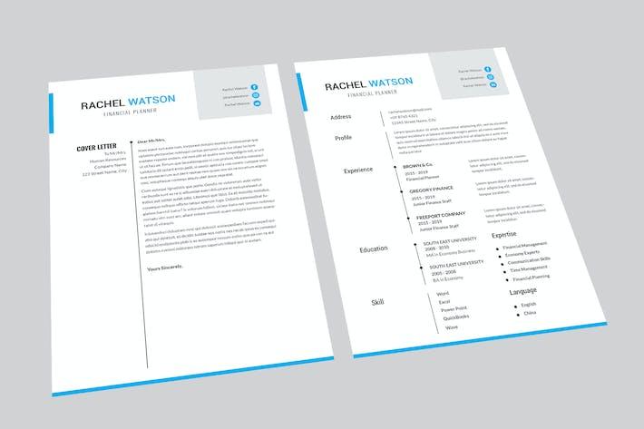 Thumbnail for Financial Planner Resume Designer
