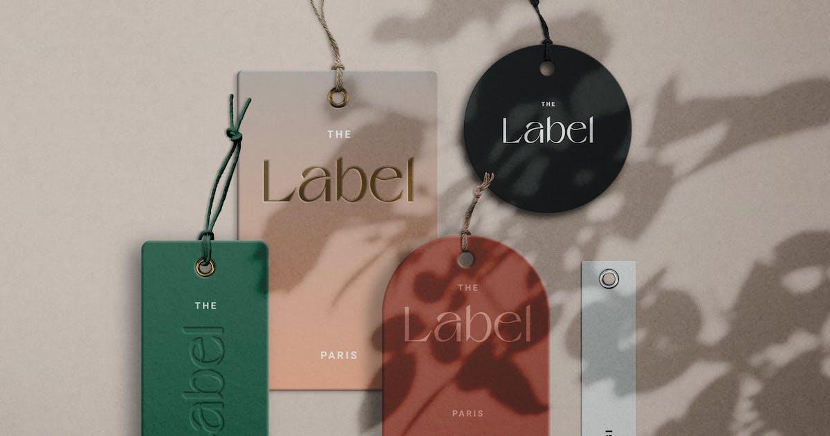 Download Label Tag Mockup Scene Creator by helloDigi