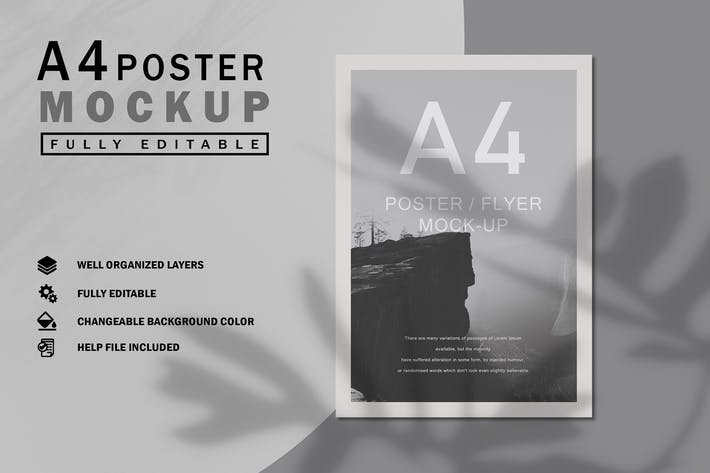 Thumbnail for A4 Poster Mockup