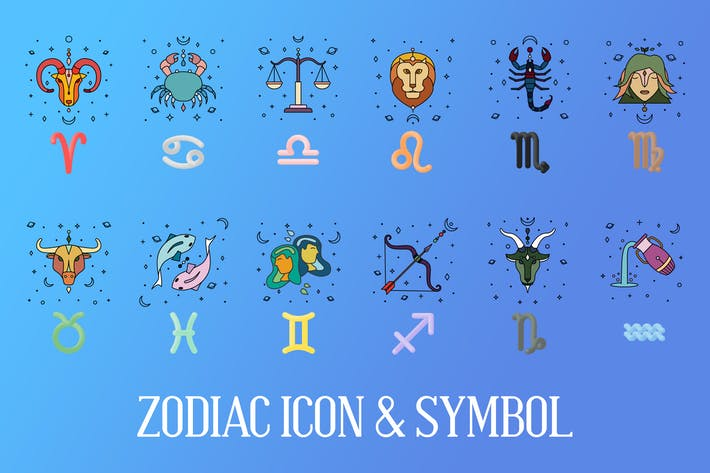 Sternzeichen-Symbol & Zeichen